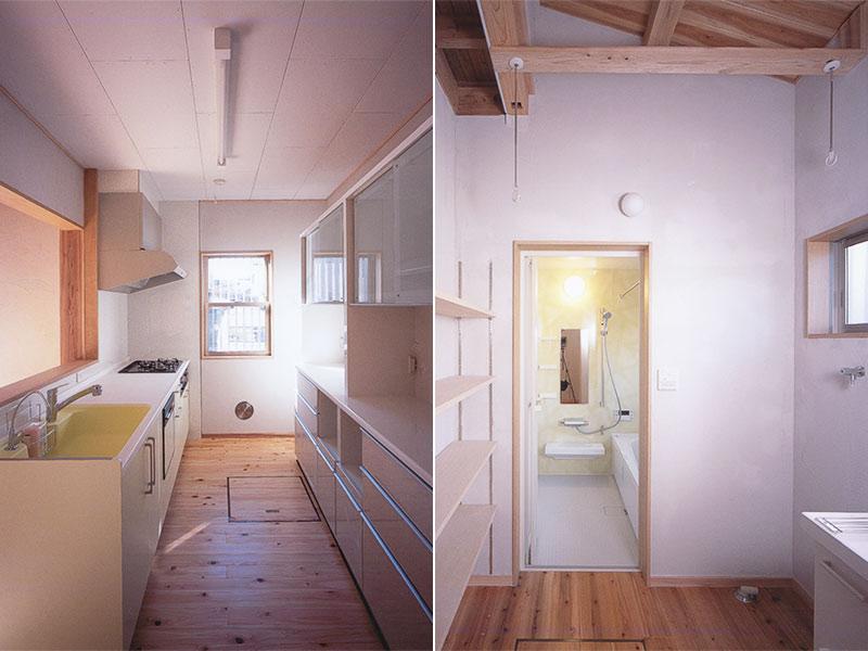 キッチンと洗面所