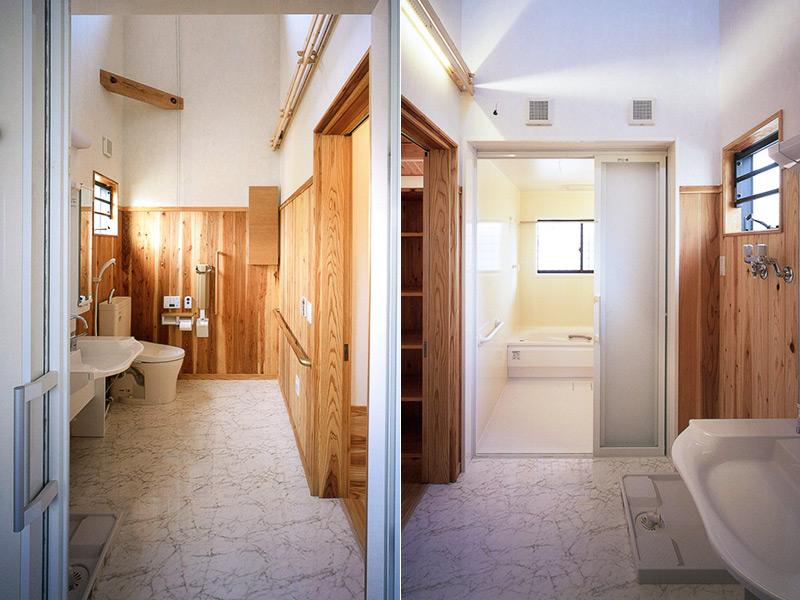 車椅子の使える浴室・洗面所・トイレ