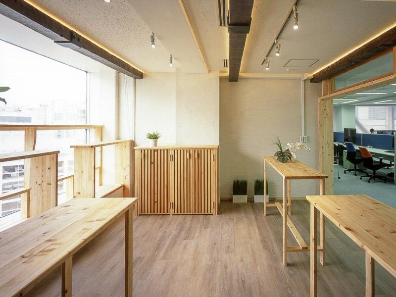 都心オフィスの癒やし空間